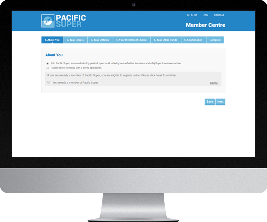 Pacific Super - Member Join Online (MJOL)