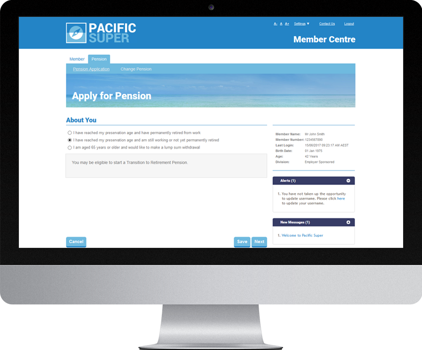 Pacifc Super - Pension Join Online (PJOL)